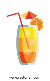 cocktail with straw