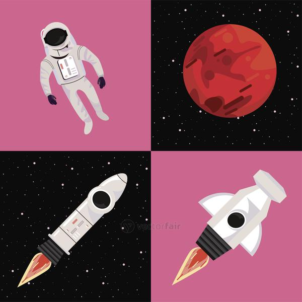 four space icons
