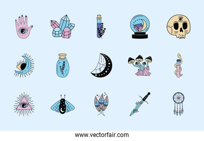 fifteen esoteric icons