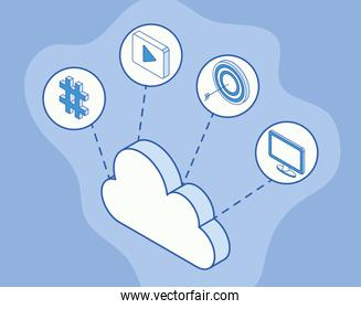 social five icons