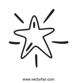 Isolated star icon