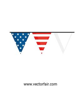 usa flag garlands
