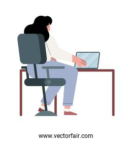 businesswoman working character
