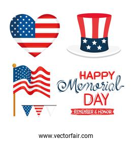 memorial day five icons