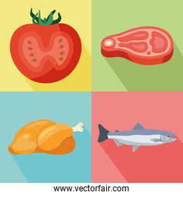 meat and tomato