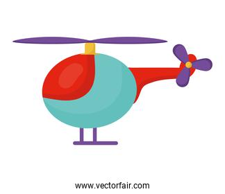 kids helicopter isolated