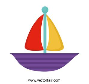 purple boat isolated