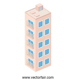 pink building isometric