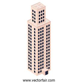 isometric pink building