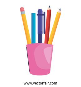 pencils holders icons