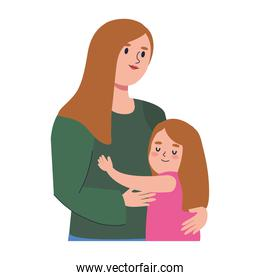 mother and girl