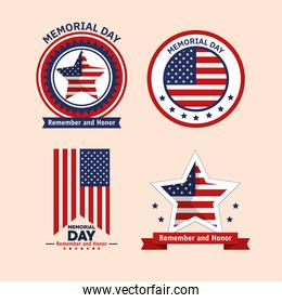 memorial day four  icons