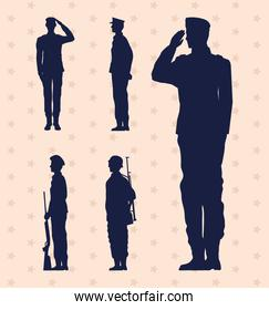 five soldiers military