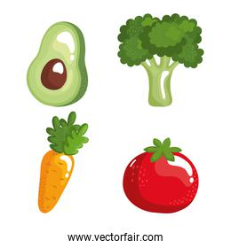 healthy vegetables food