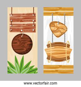 wooden boards banner