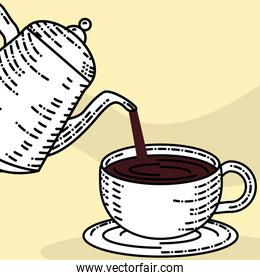 kettle pouring coffee