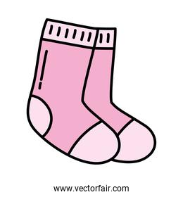 pink socks icon