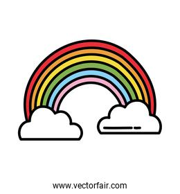 clouds and rainbow