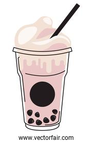 pink bubble straw