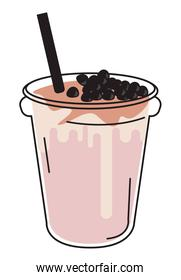 bubble straw pink