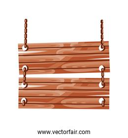 wooden board chains
