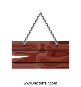 wooden sign chain