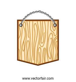 wooden shield chains