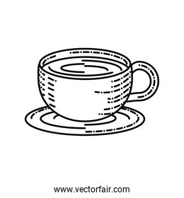 isolated coffee cup dish