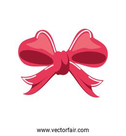 red gift bow over white