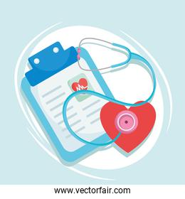 medical care history and one heart