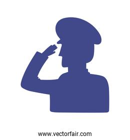silhouette soldier salute