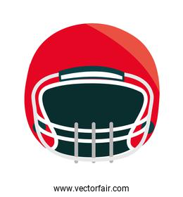 red american football helmet front