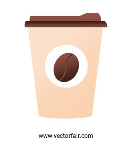 disposable coffee cup isolated icon