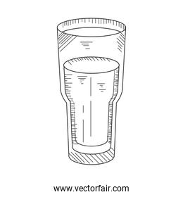 glass cup beverage