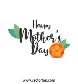 happy mothers day and flower decoration