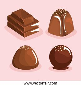chocolate four products
