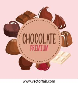 chocolate products frame