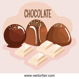 sweet chocolate products