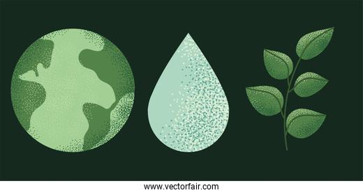 ecology sustainable icons