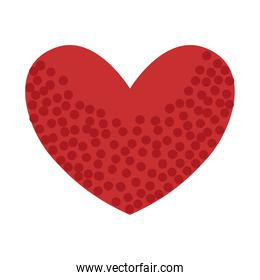 dotted heart love