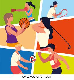 people different sports