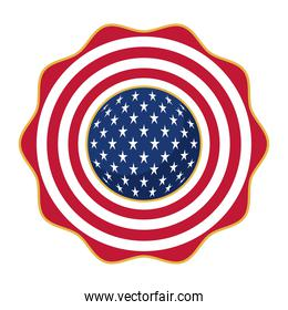 usa flag seal