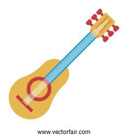 yellow and blue guitar musical instrument