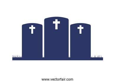 cemetery graveyards silhouettes