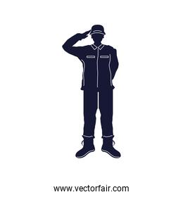 saluting soldier silhouette
