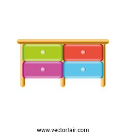 colored drawers furniture