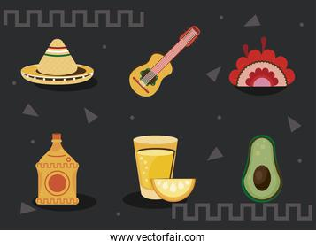 mexican bundle icons