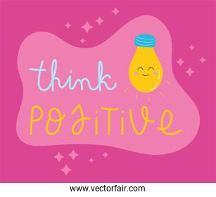 lettering thinks positive