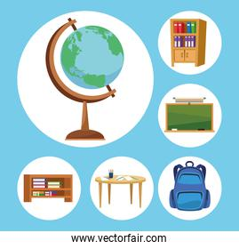 school forniture icons