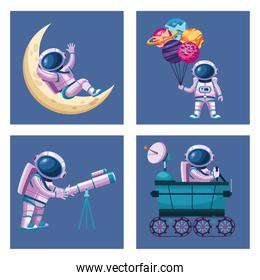 astronauts group characters